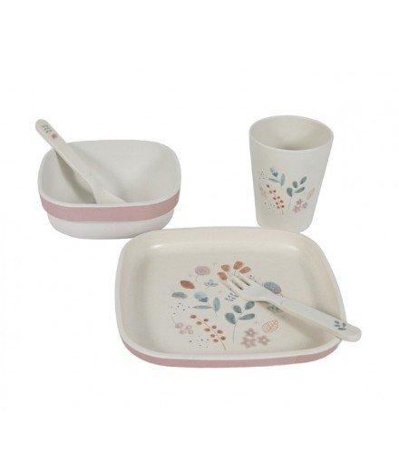 Set vaisselle en bambou - Herbier