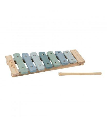Xylophone en bois - bleu