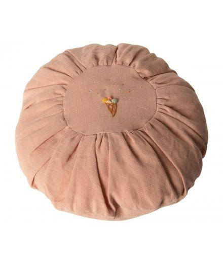 Coussin brodé Glace - Rose