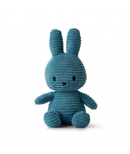 Peluche Miffy en velour côtelé - Bleu navy