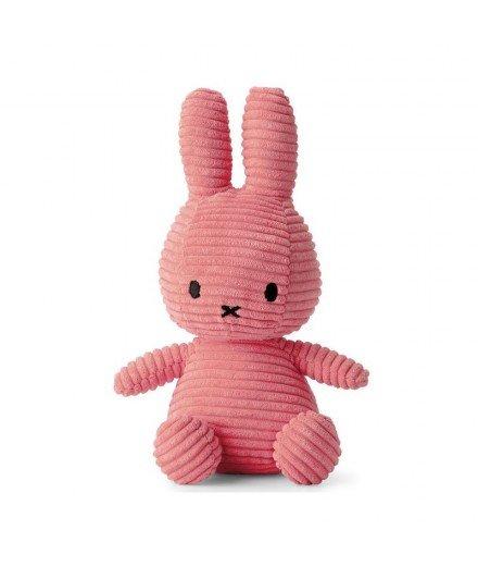 Peluche Miffy en velour côtelé - Rose bubblegum