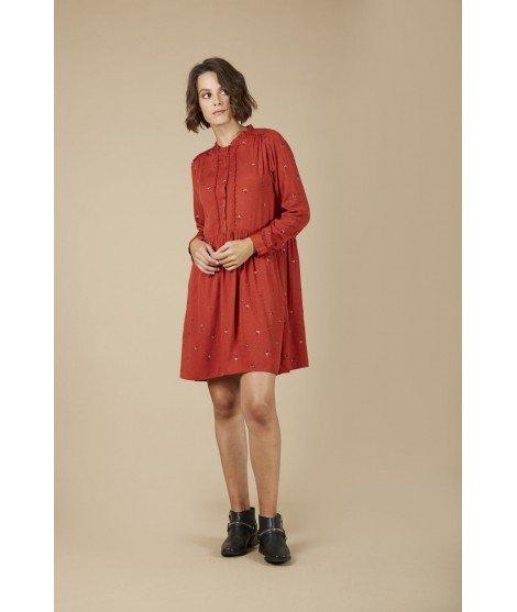 Robe Amandine - Brique