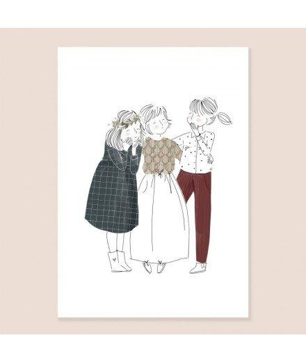 Affiche Les Amies - Format A4
