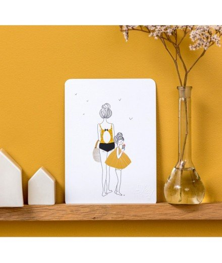 Carte postale Balade fille